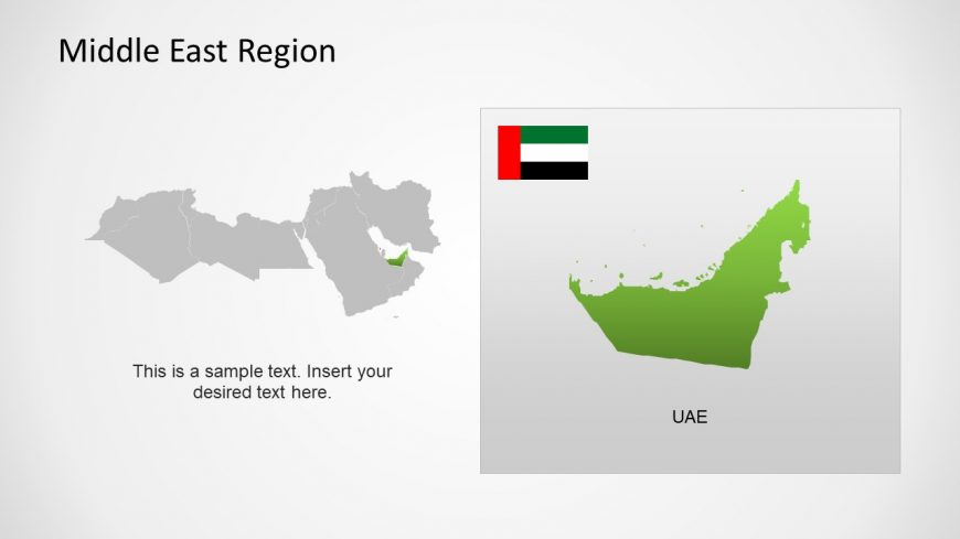 Silhouette Map of UAE Middle East