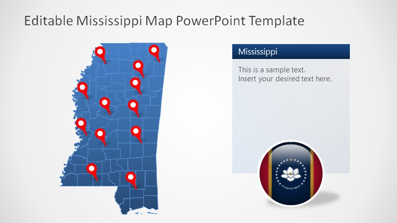 PowerPoint Mississippi Counties Template