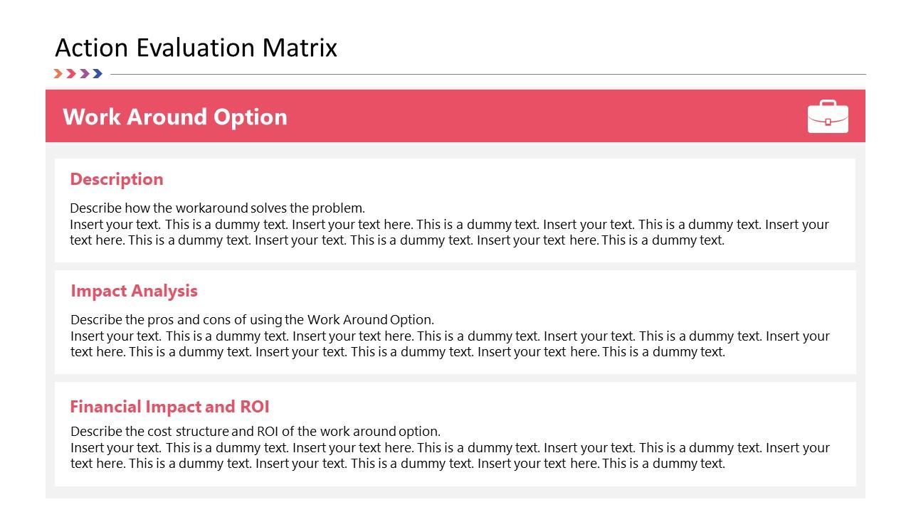 Work Around PowerPoint Action Evaluation