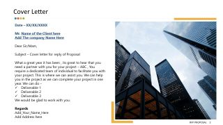 Templates of RFP Cover Letter