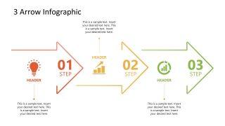 3 Arrows Milestone PowerPoint Timeline