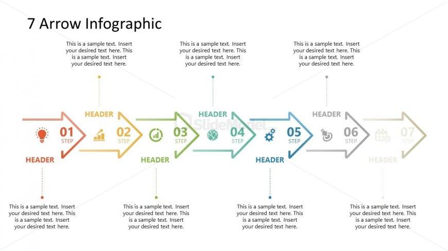 7 Arrows Milestone PowerPoint Timeline