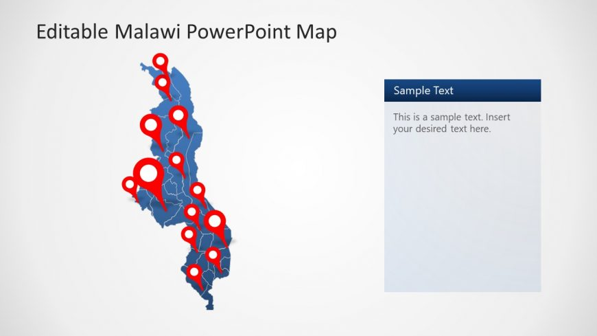 Outline Map Malawi PowerPoint