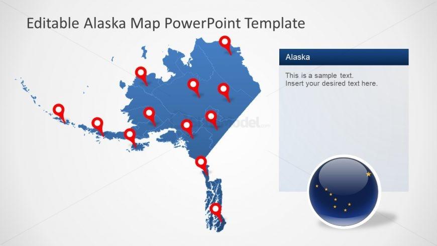 Presentation of Alaska Editable Map