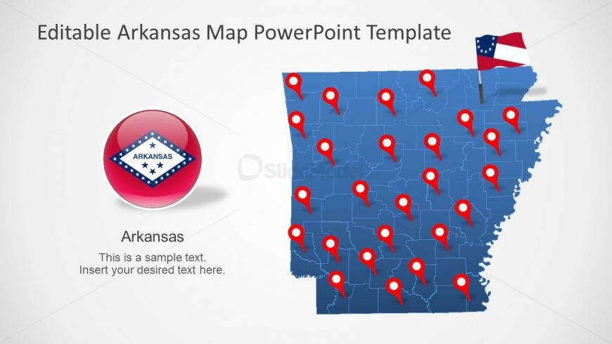 Flag and Map of Arkansas PPT