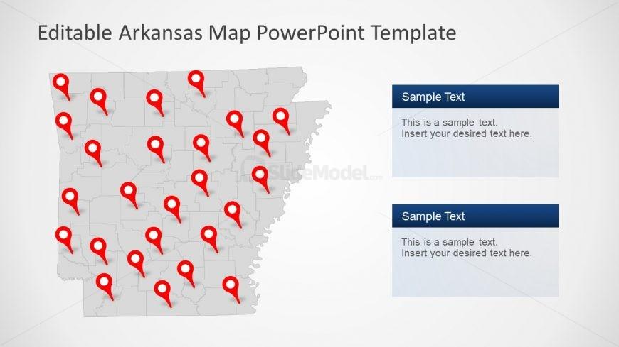 Silhouette Map of Arkansas