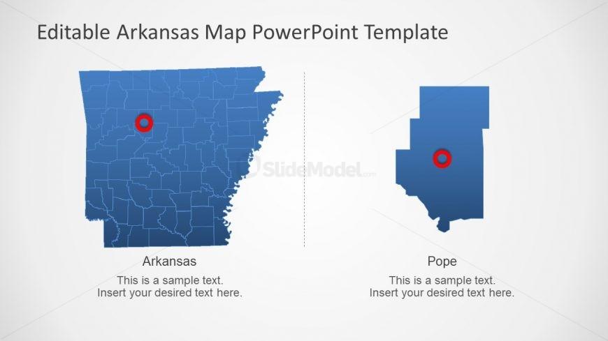 Presentation of Arkansas Map PPT