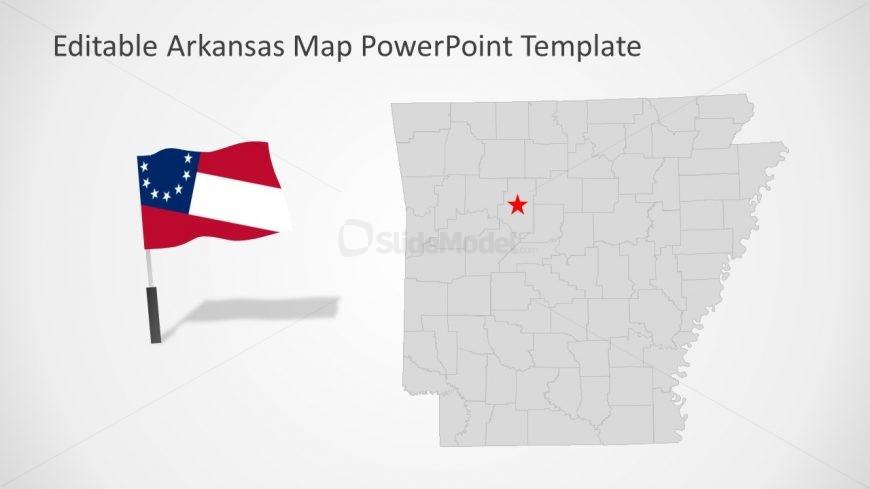 Templates of Arkansas Silhouette Map