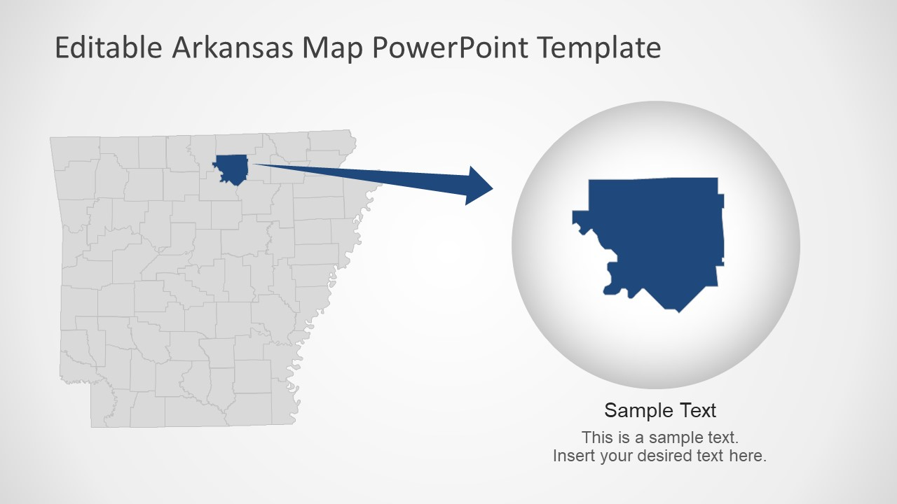 Editable Counties of Arkansas Template