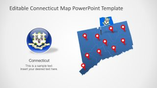 PowerPoint Templates of Connecticut Map