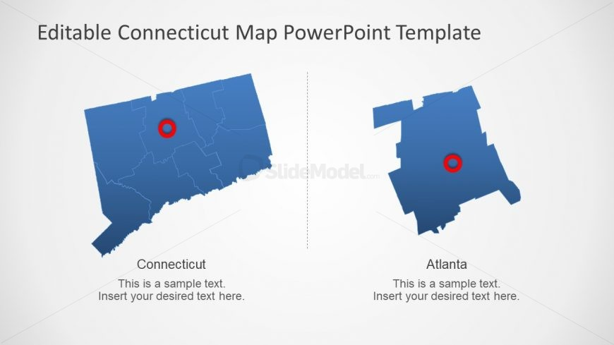 PowerPoint Region of Connecticut Map