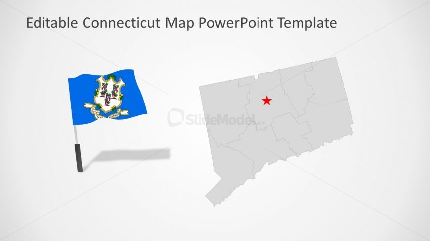 USA State of Connecticut in PowerPoint
