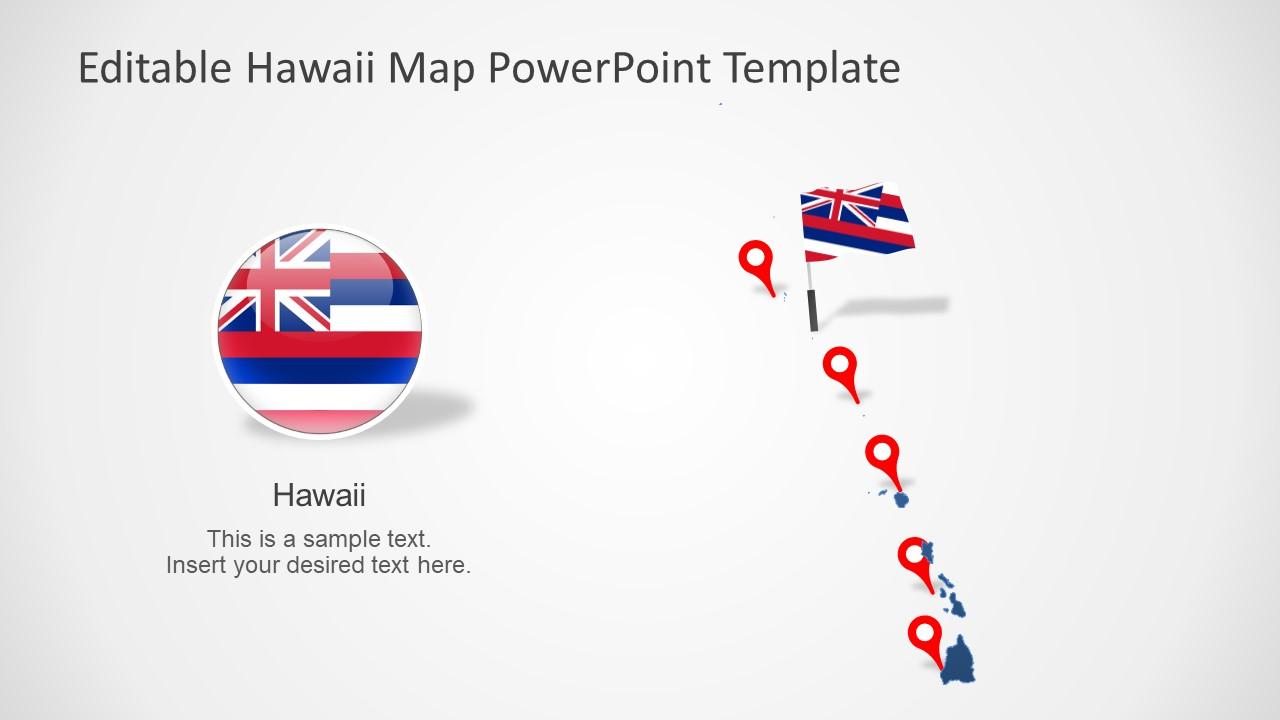 Editable Maps of Hawaii