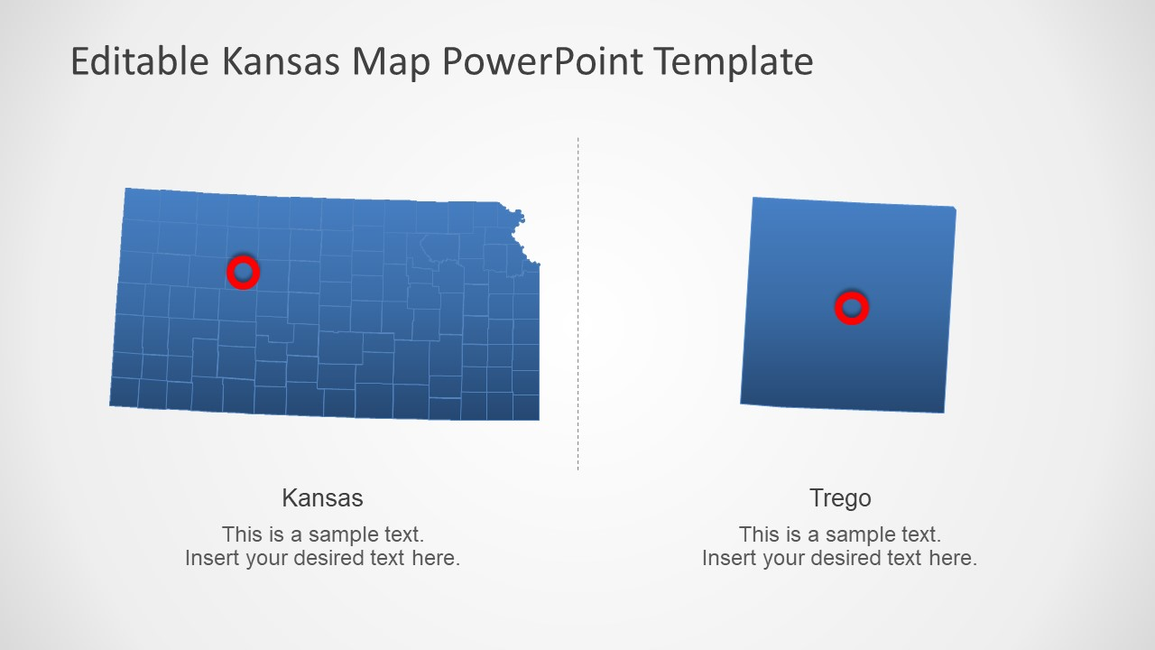 Presentation of Flat Kansas Map