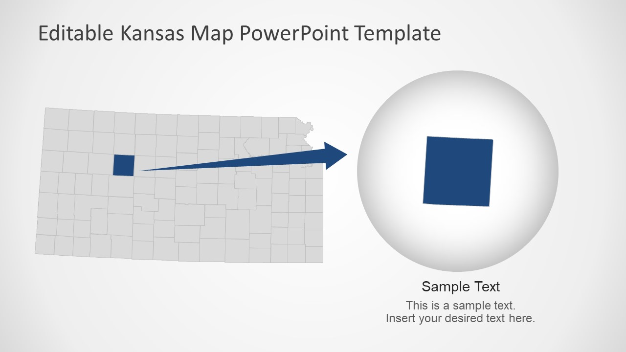PowerPoint Map of Kansas State