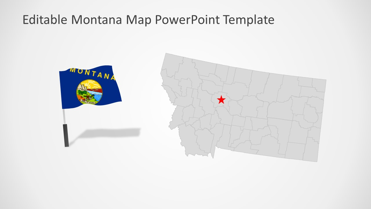 Presentation of Montana Map Template