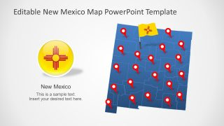 PowerPoint Map of New Mexico State