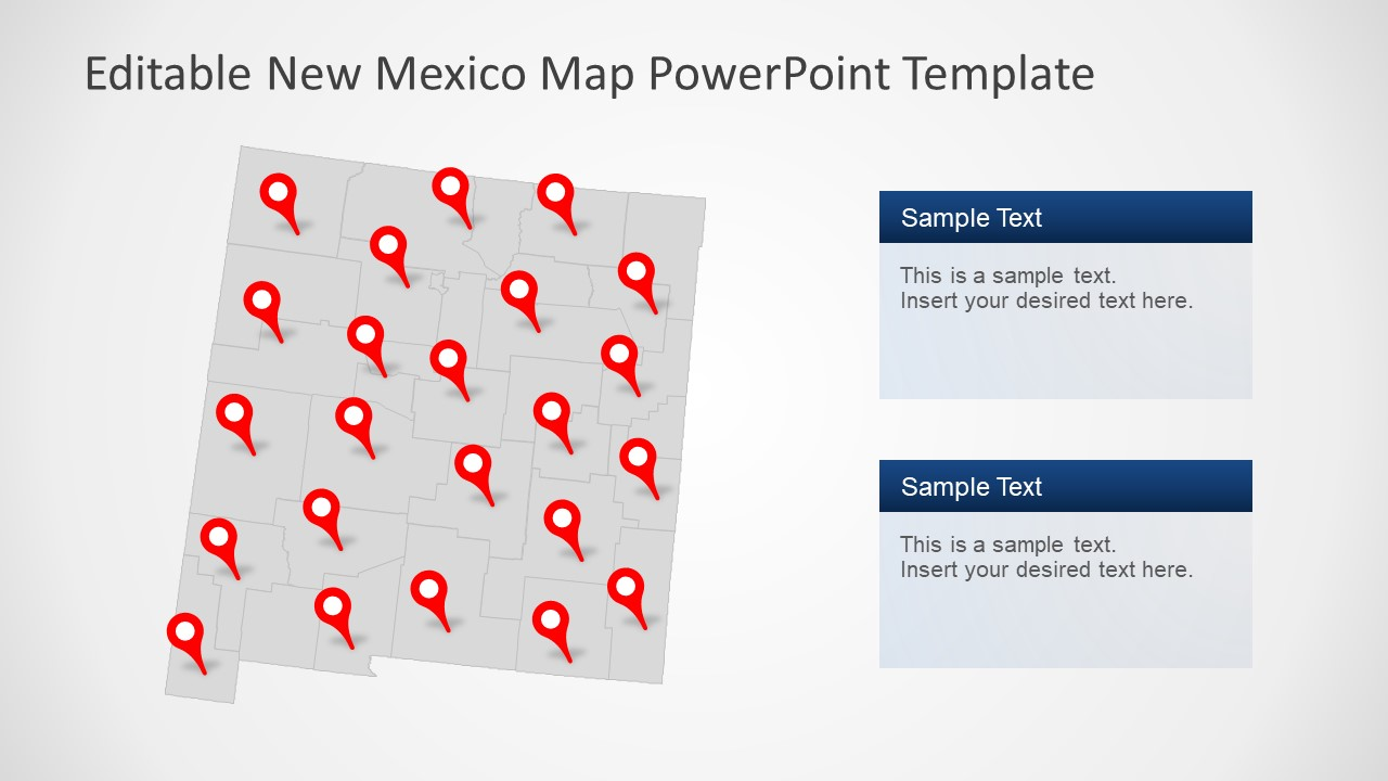 New Mexico Map Template Gray