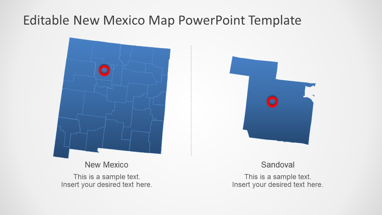 Editable Map Template of New Mexico Counties