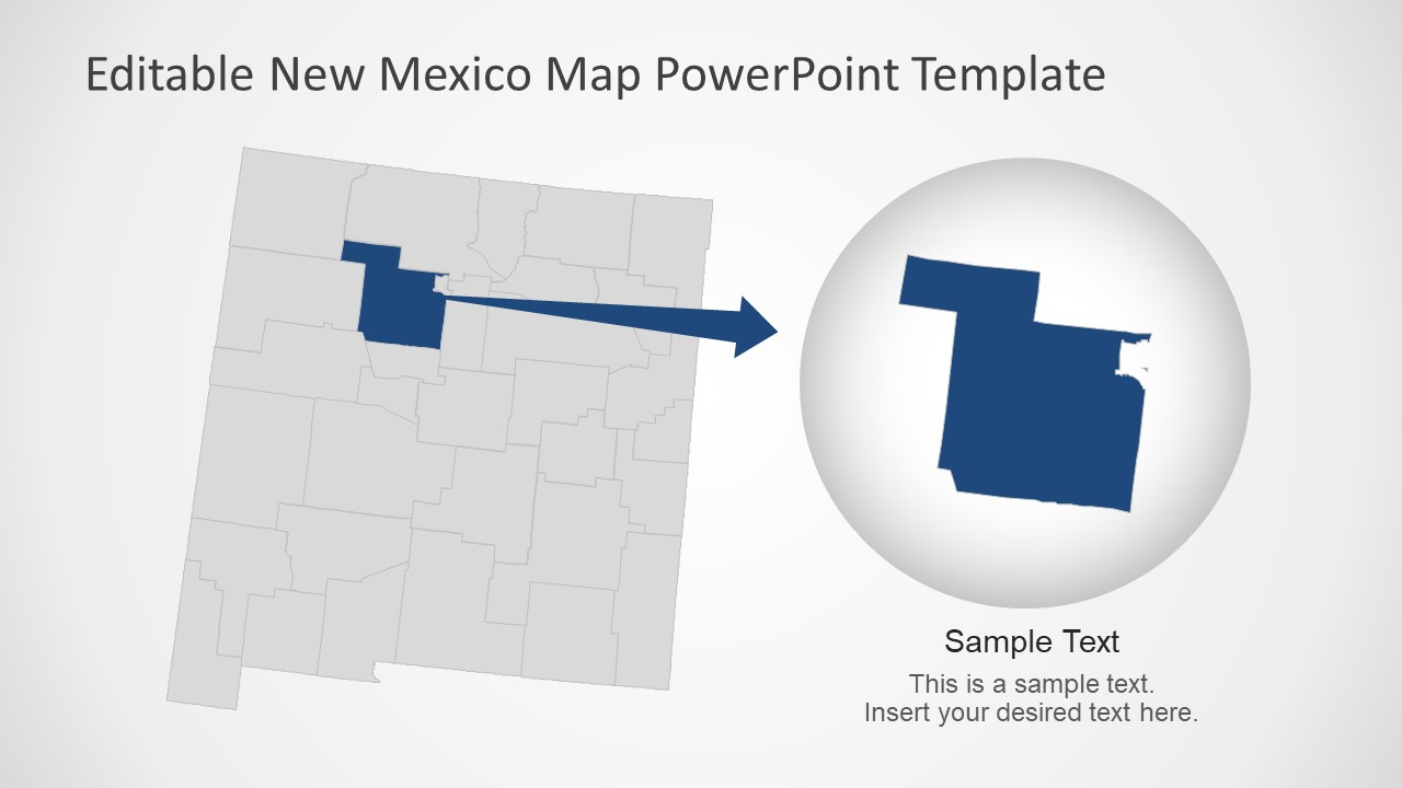 New Mexico County Zoomed Map