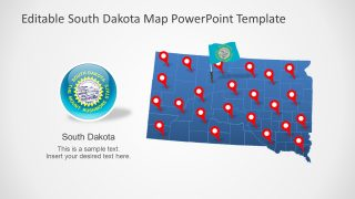 Map Template of South Dakota State