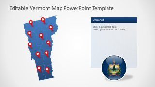 PowerPoint Editable Map of Vermont