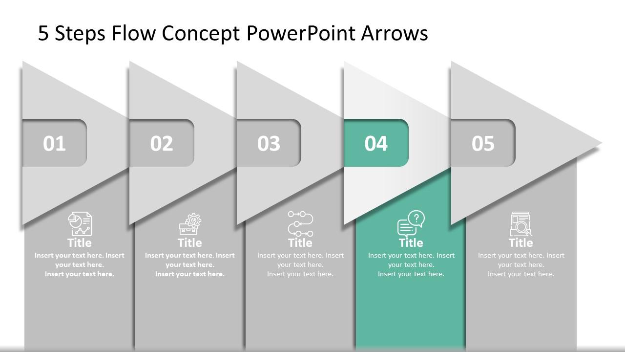 Presentation of 5 Steps Arrow Diagram