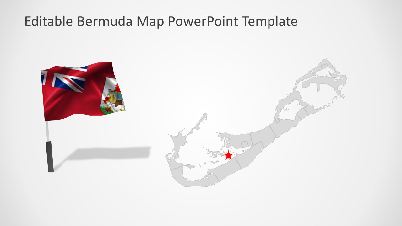 Flag on Pole Clipart Map Template