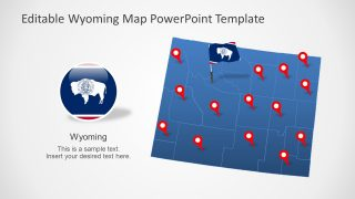 Map Template of USA State of Wyoming