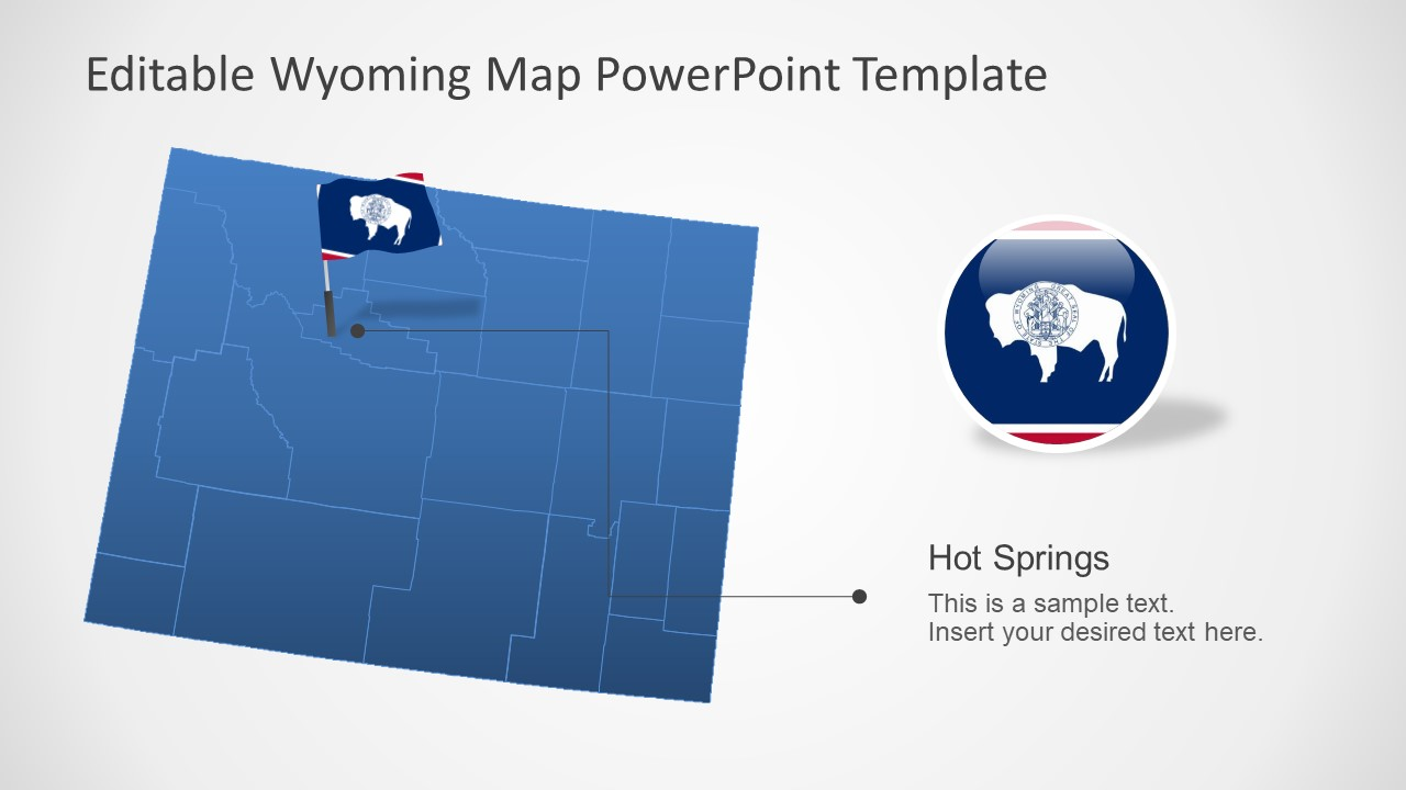 Presentation of Wyoming Editable Map