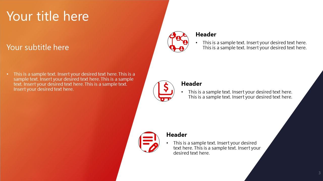 PowerPoint Slide of Agenda Points