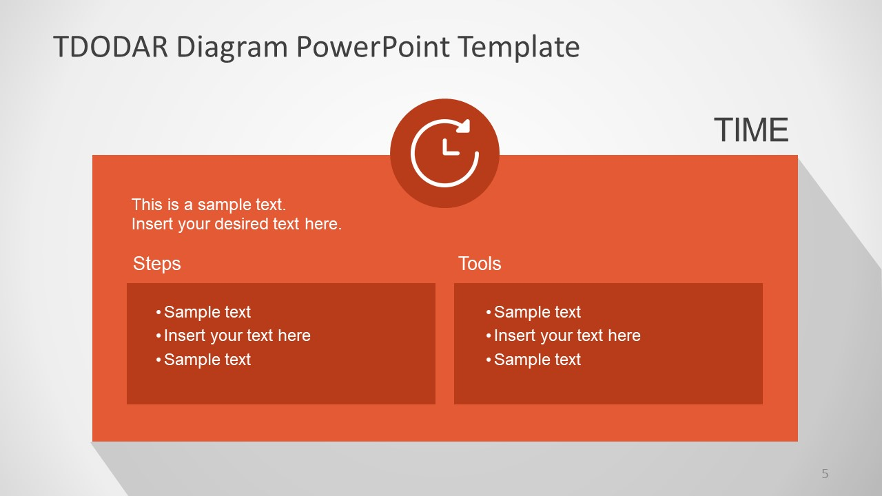PowerPoint Templates for TDODAR Diagram Time