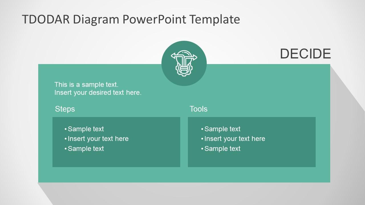 PowerPoint Templates for TDODAR Diagram Decide
