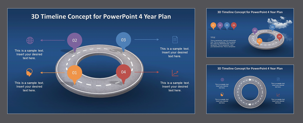 PPT Timeline Template Animated Roadmap