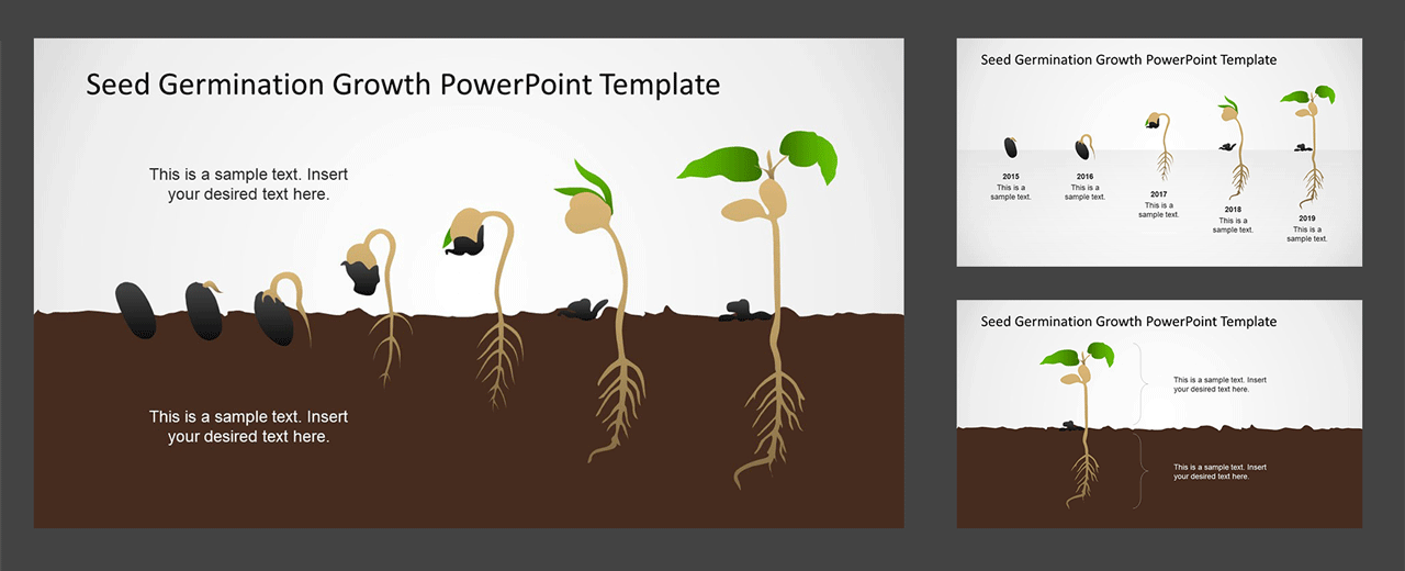 PPT Timeline Template Growth Concept