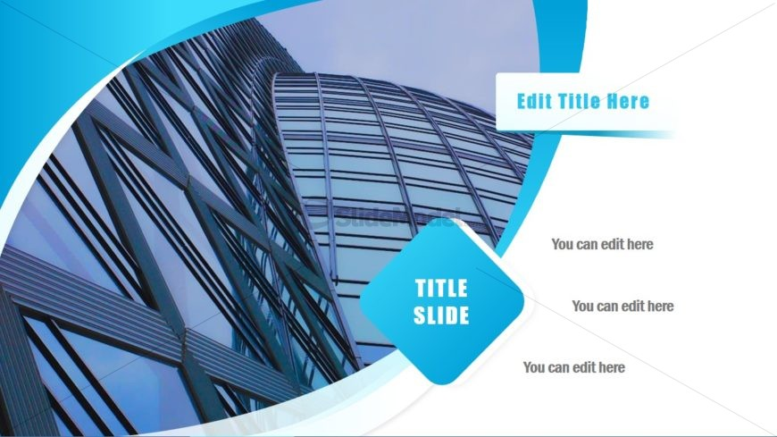 Slide with Landscraper Image Placeholder