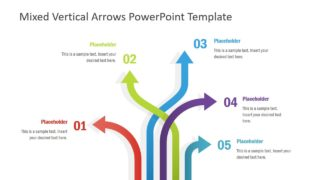 Mixed Vertical Arrows PowerPoint Template