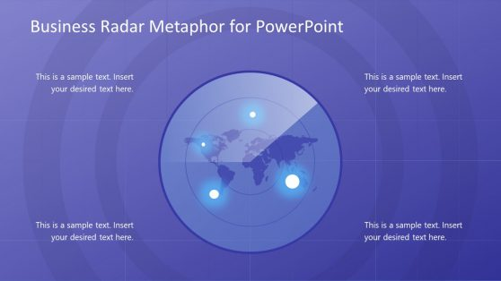 Infographic Map and Radar Metaphor PPT