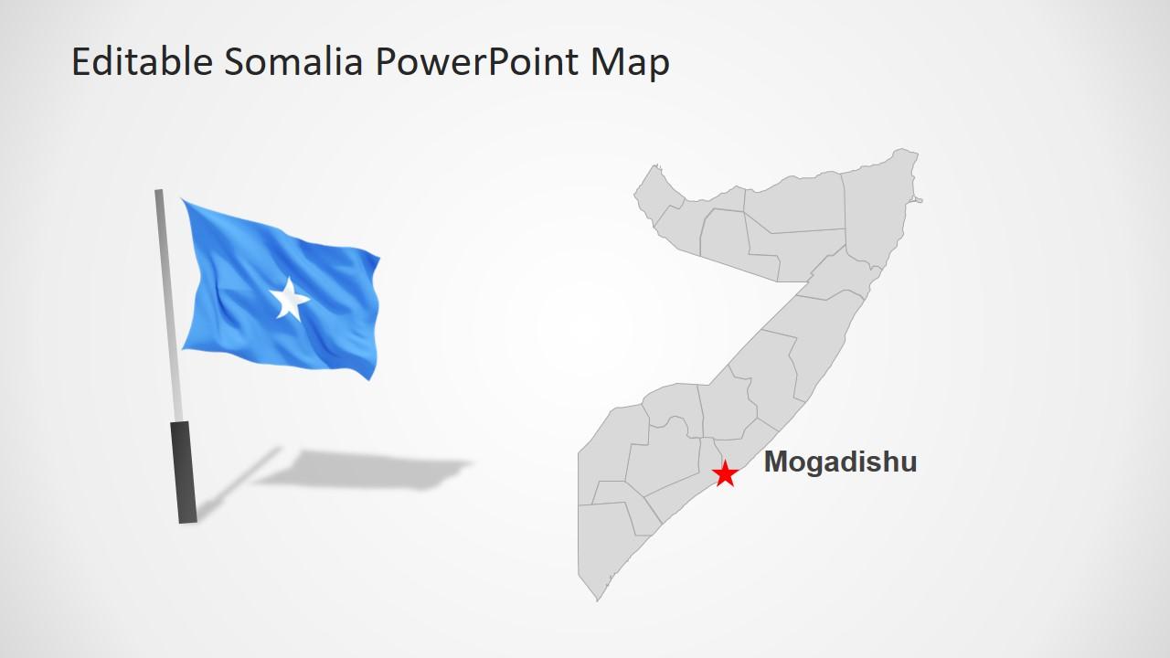 PowerPoint Map of Somalia