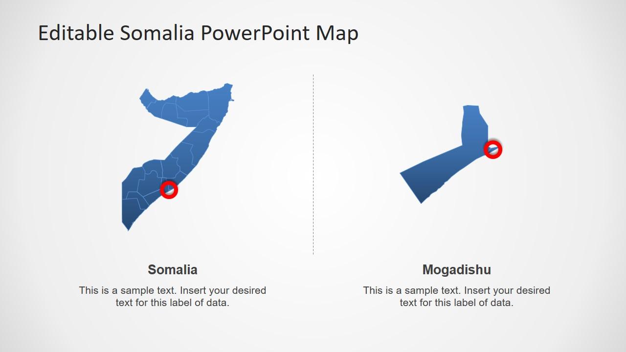 Silhouette PowerPoint Somalia Map