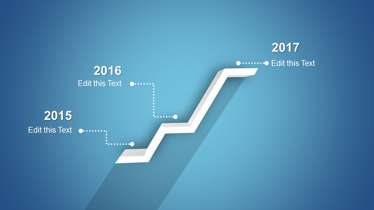 Creative Timeline Template Design for PowerPoint