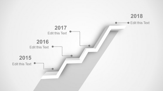 Black and White 3D 4 Steps Timeline Design