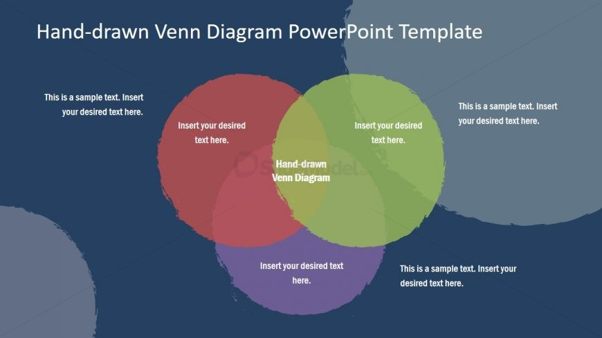 PowerPoint Venn Diagram Hand Drawn