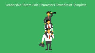 Leadership Totem-Pole Characters PowerPoint Template