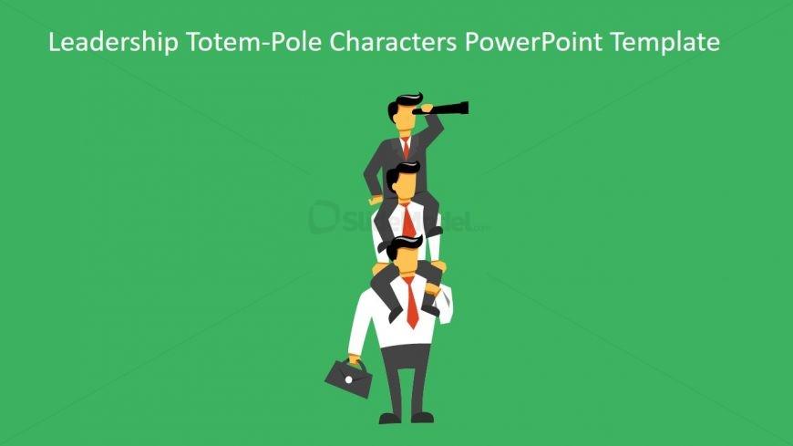 Cartoon Character for Leadership Illustration