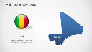 Editable Country Map Mali
