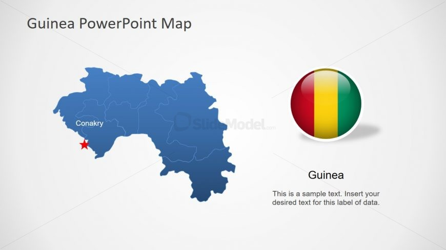 Editable Country Map Guinea