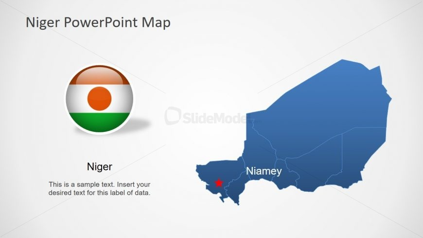 Editable Country Map Niger