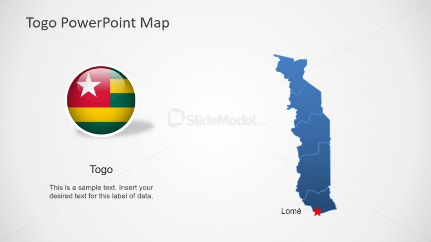 Editable Country Map Togo