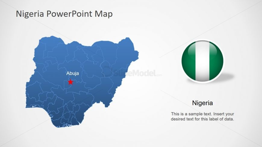 Nigeria Editable Map PPT - SlideModel